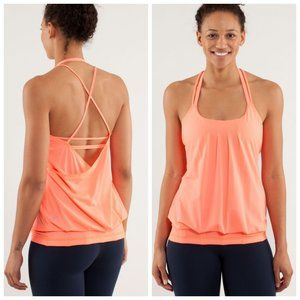 LULULEMON Flow & Go Neon Coral Strappy Tank Top